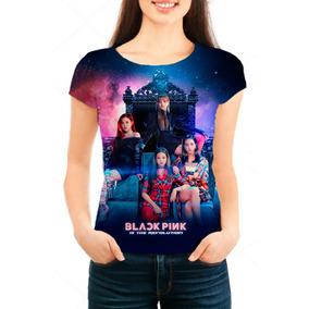 Camiseta Babylook Feminina K-pop Black Pink - Mn02