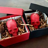 Vela Calavera Skull Candle Goth Punk Witch Dark Calaveras