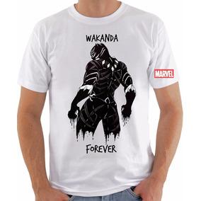 ba70cb40af Camiseta Pantera Negra Black Panther Wakanda Forever