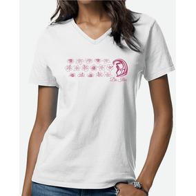 Tshirt Feminina Camiseta Flowers Surf Girls Da Ilha Gola V fac2cef4c4857