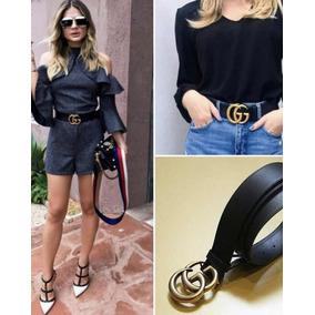Cinto Gucci Preto Fivela Dourada - Acessórios da Moda no Mercado ... 14222d5dc7