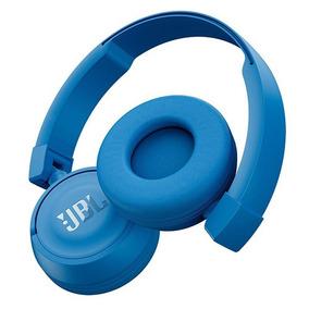 Fone De Ouvido Pure Bass Azul Com Microfone Jbl - T450