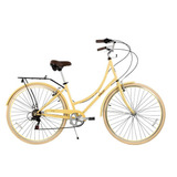 Bicicleta Paseo Sicilia Rodado 26 Amarillo