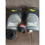 Luva De Boxe Everlast 14 Oz Mais Bandagem Elastica 5 Metros