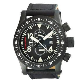 Relógio Masculino Carmim Preto Borracha Original Crm38102