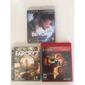 Lote 3 Jogos De Ps3 Beyond Farcry 2 Resident Evil 5