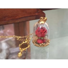 El Principito La Rosa Y El Zorro Collar Baño Oro Envi