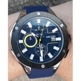 Relógio Masculino Top Esportivo Militar Megir + Brinde