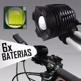 Farol Bike Monster Led T6 Lanterna Bicicleta Recarregavel