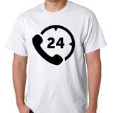 Camiseta Vinte E Quatro Horas Camisa Blusa Horas c0aabcd4acf