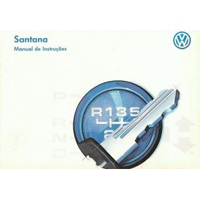 Manual De Instruções - Santana 1997- Loja Oficial Volkswagen
