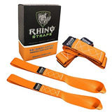 Rhino Usa Correas Suaves De Lazo De Motocicleta Loops (4pk)