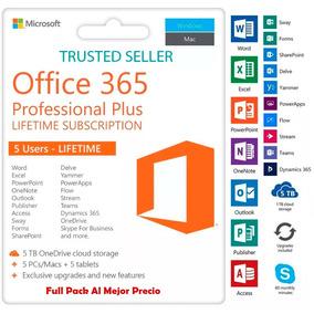 Licencia Office 365 Cuenta Para 5 Pc / Mac Al Mayor