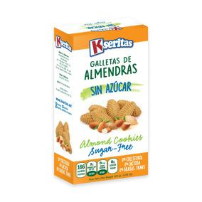 Galletas De Almendras Sin Azúcar. Kseritas. (24 Unidades).