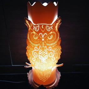 Luminária Artesanal - Coruja