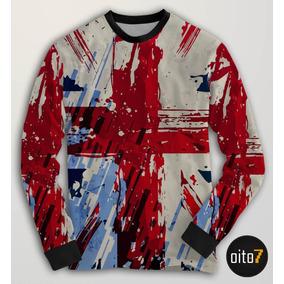 86c0f8ae51 Blusa Moletom Bandeira Reino Unido Inglaterra Flag Copa