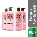Pack 2 Shampoo + 2 Acond Herbal Smooth Collection 1 Lt.
