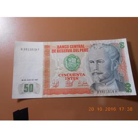 Cédula Peru 50 Cincuenta Intis