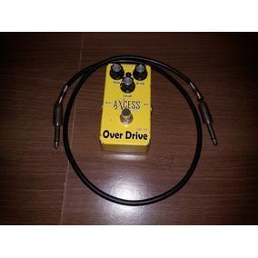 Pedal Over Drive + Cabo P10 + Bateria Recarregável