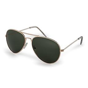 a924018a65 Gafas De Sol Estilo Aviador, Montura Dorada Con Lentes G15,