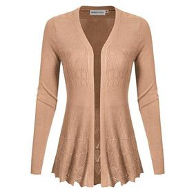 Suéter De Mujer Marca Maysix Apparel Color Cafe Talla M. 02281952cbc5