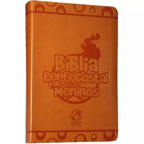 Bíblia Pentecostal Para Meninos Laranja - Cpad