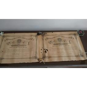 Dois Títulos Agrimensor Da Escola Militar De 1890