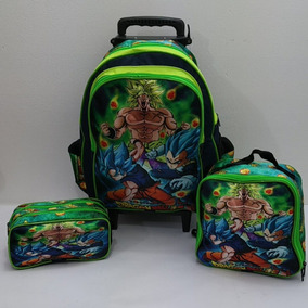Kit Mochila Rodinha Infantil Escolar Dragon Ball Z Barato