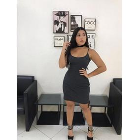 Vestido Curto Alça Canelado Justo Moda Blogueira Instagram