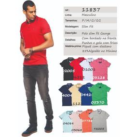 Camisa Pólo Manga Longa Com Bolso Masculina Ref. 10070 - Calçados ... 914b7a3100d3d