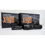 Lanterna X900 Tatica Militar Recarregavel Bateria 4,2v Forte