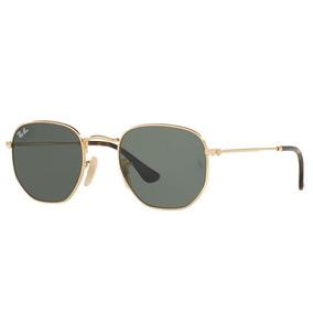 Culos Ray Ban Hexagonal De Sol - Óculos Dourado no Mercado Livre Brasil d56426077b