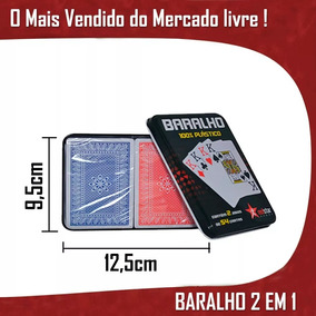 Baralho Lata Profissional Kit Especial 108 Cartas 2 Baralhos