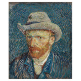Retrato Chapéu Feltro - Van Gogh - 60x72 Tela Para Quadro
