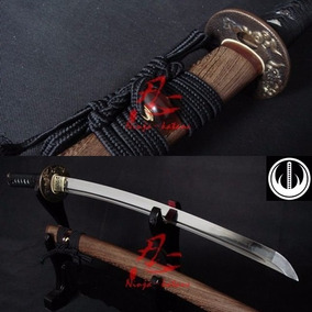 Espada Samurai Curta Wakizashi Aço 1095 Com Corte Forjado