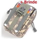 Bolsa Tática Modular Militar Airsoft Molle Celular +brinde b53d71cf289