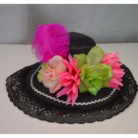 Sombrero Catrina Rosa Ver Niña Dia Muertos Halloween Disfraz e7558769b28