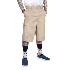 Shorts Dickies Bermudas Largos Cholo Chicano Khaki Biege La