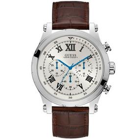 Relógio Masculino Guess Pulseira Couro 92700g0gsnc3