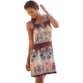 Mini Vestido Tunica Playa Casual Boho Escote Barco 220355