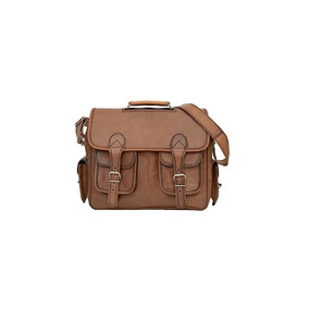 81stgeneration Mens Womens Classic Large Leather Courier Sty