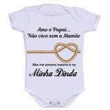 Body Bory Personalizado Bebê Divertido Me Amarro Na Dinda ba34f6b92b