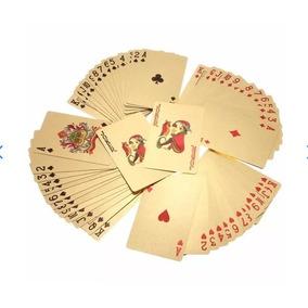 Baralho /de Luxo Poker Folheado /a Ouro Dourado 24 K