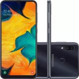 Smartphone Galaxy A30 Preto 64gb, Tela De 6.4