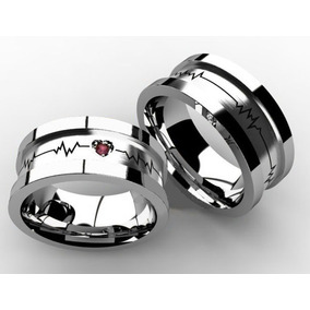 119f2675ca2 Aliança Com Batimentos Cardiacos E Rubi - Joias e Relógios no ...