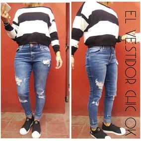 Hermoso Sweater Rayado Blanco Y Negro - Saquitos 7b35e4777390