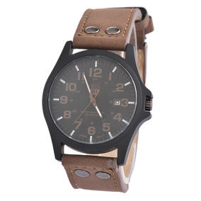 07fa764c1354 Reloj Correa De Cuero Cafe - Relojes y Joyas en Mercado Libre Chile
