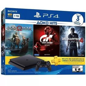 Ps4 Slim Sony 1tb 3 Jogos Bundle Playstation 4 God Of War