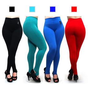 Kit 4 Calça Legging Suplex Feminina Lisa Academia Atacado
