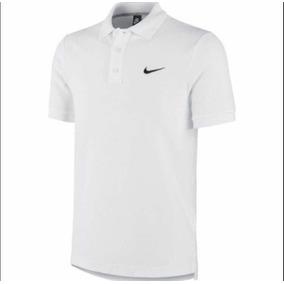 Camisa Nike Gola Pollo Nsw Court Dry Solid Branca Preta Rosa a413476616886